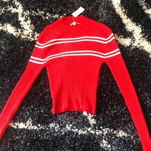 A red long sleeve shirt